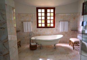no bathtub house